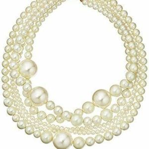 Kenneth Jay Lane 5-Row Faux Pearl Necklace #2